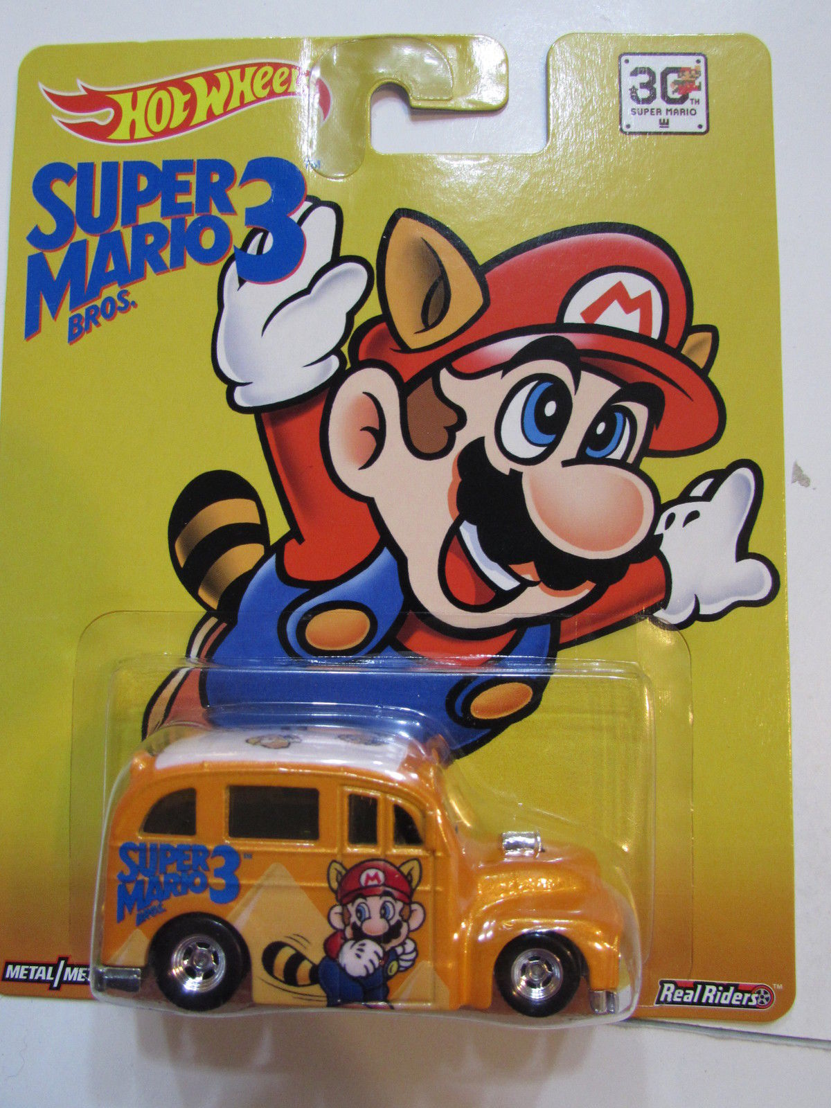 HOT WHEELS SUPER MARIO 3 SCHOOL BUSTED