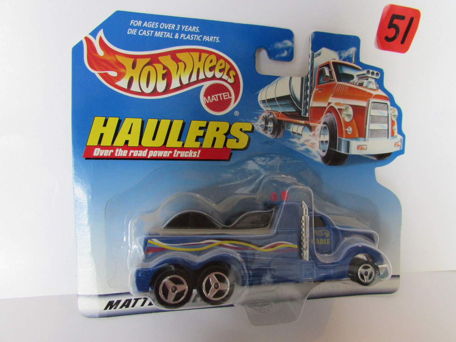 HOT WHEELS 1998 HAULERS OVER THE ROAD POWER TRUCKS - CABLE BLUE