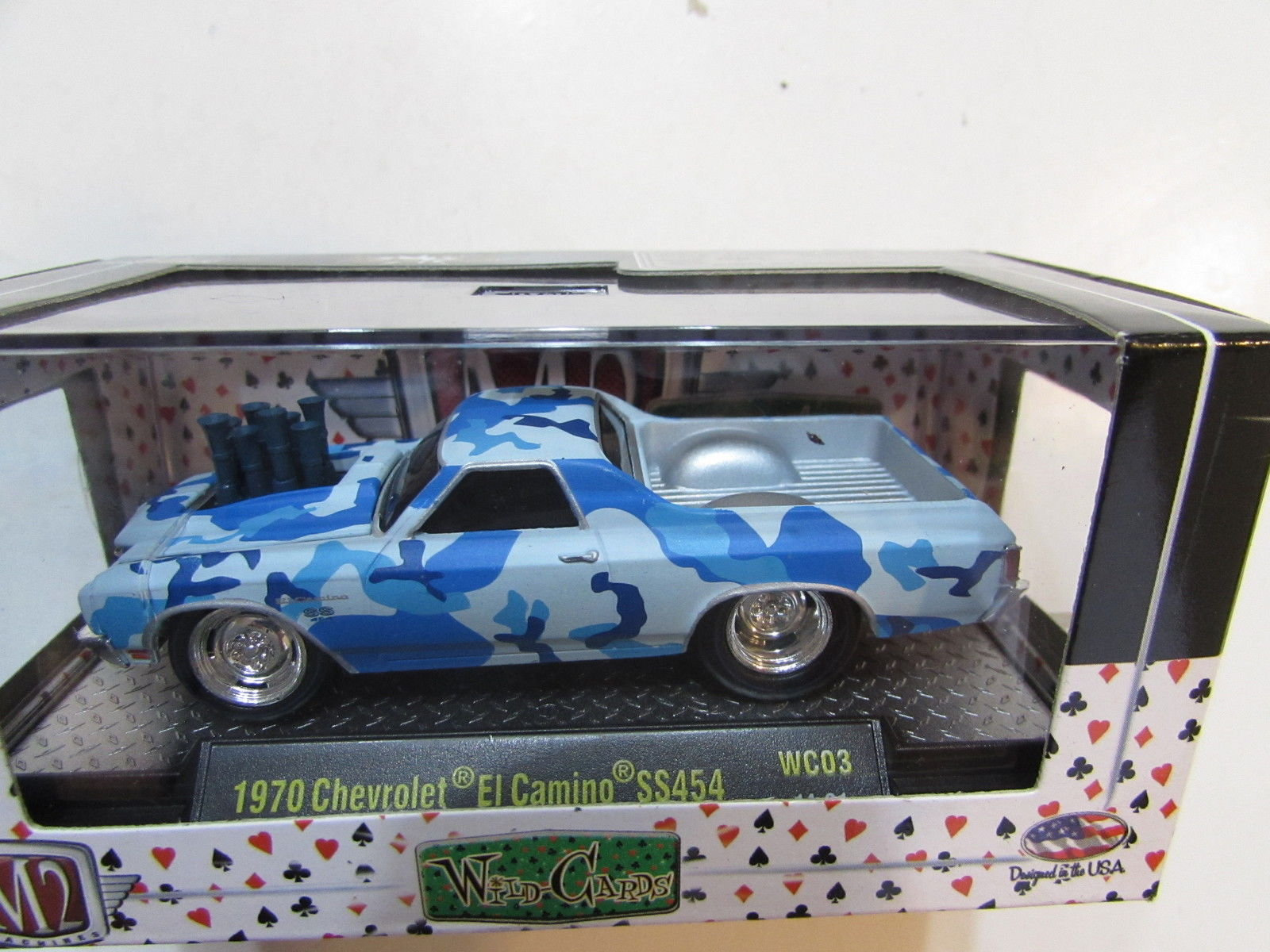 M2 MACHINES WILD CARDS 1970 CHEVROLET EL CAMINO SS454 BLUE