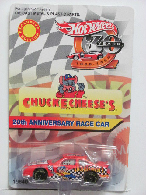 HOT WHEELS CHUCKE CHEESE'S 1997 20TH ANNIVERSARY RACE CAR