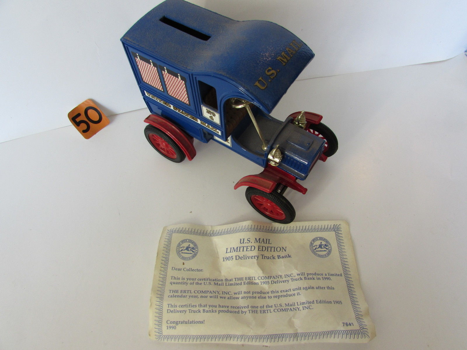 1990 ERTL 1905 DELIVERY ISSUE NO 4 - US MAIL - LIMITED EDITION COLLECTOR SERIES