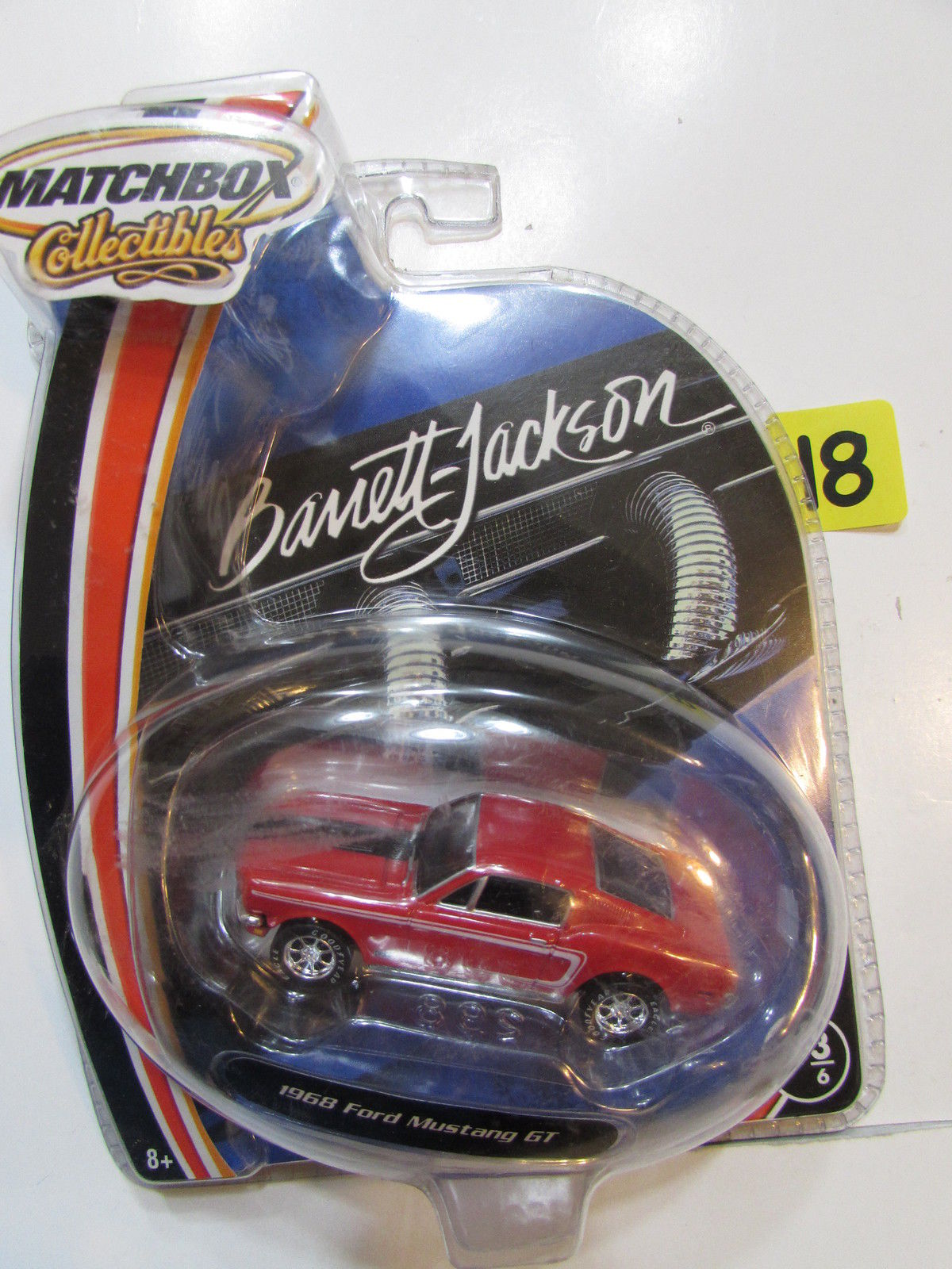 MATCHBOX COLLECTIBLES BARRETT - JACKSON 1968 FORD MUSTANG GT RED #3/6
