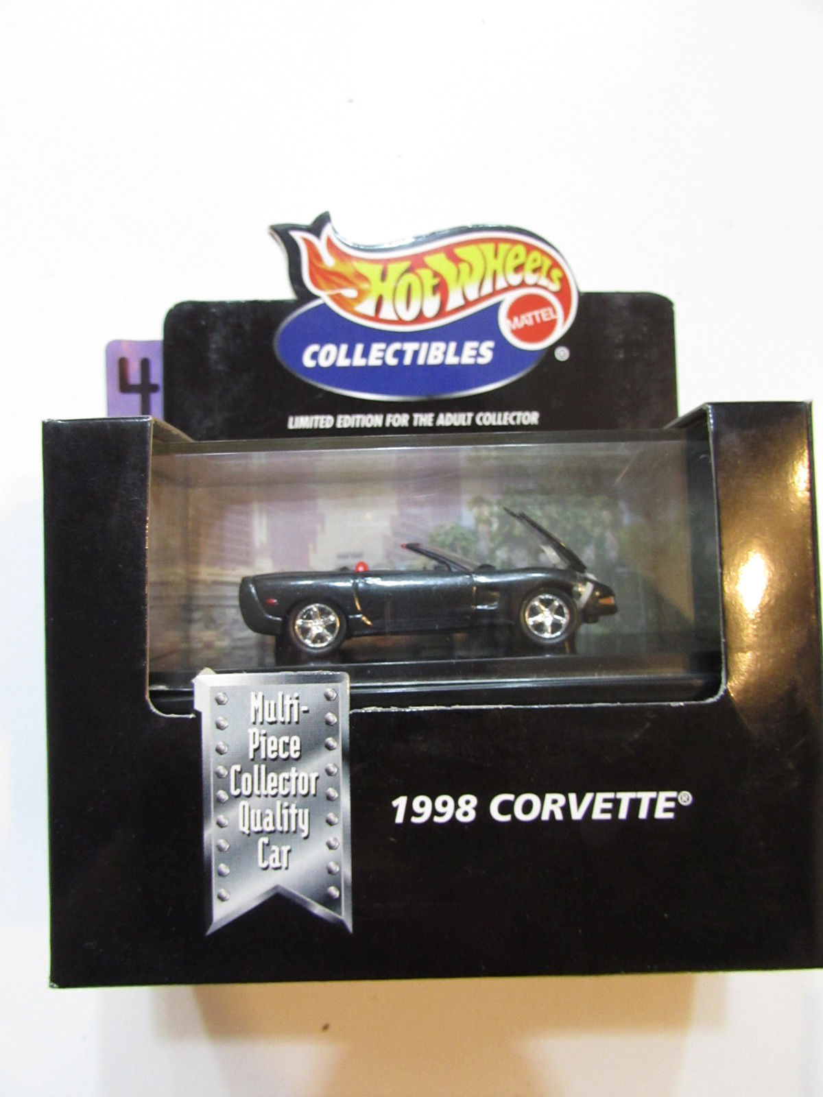 HOT WHEELS COLLECTIBLES 1998 CORVETTE BLACK