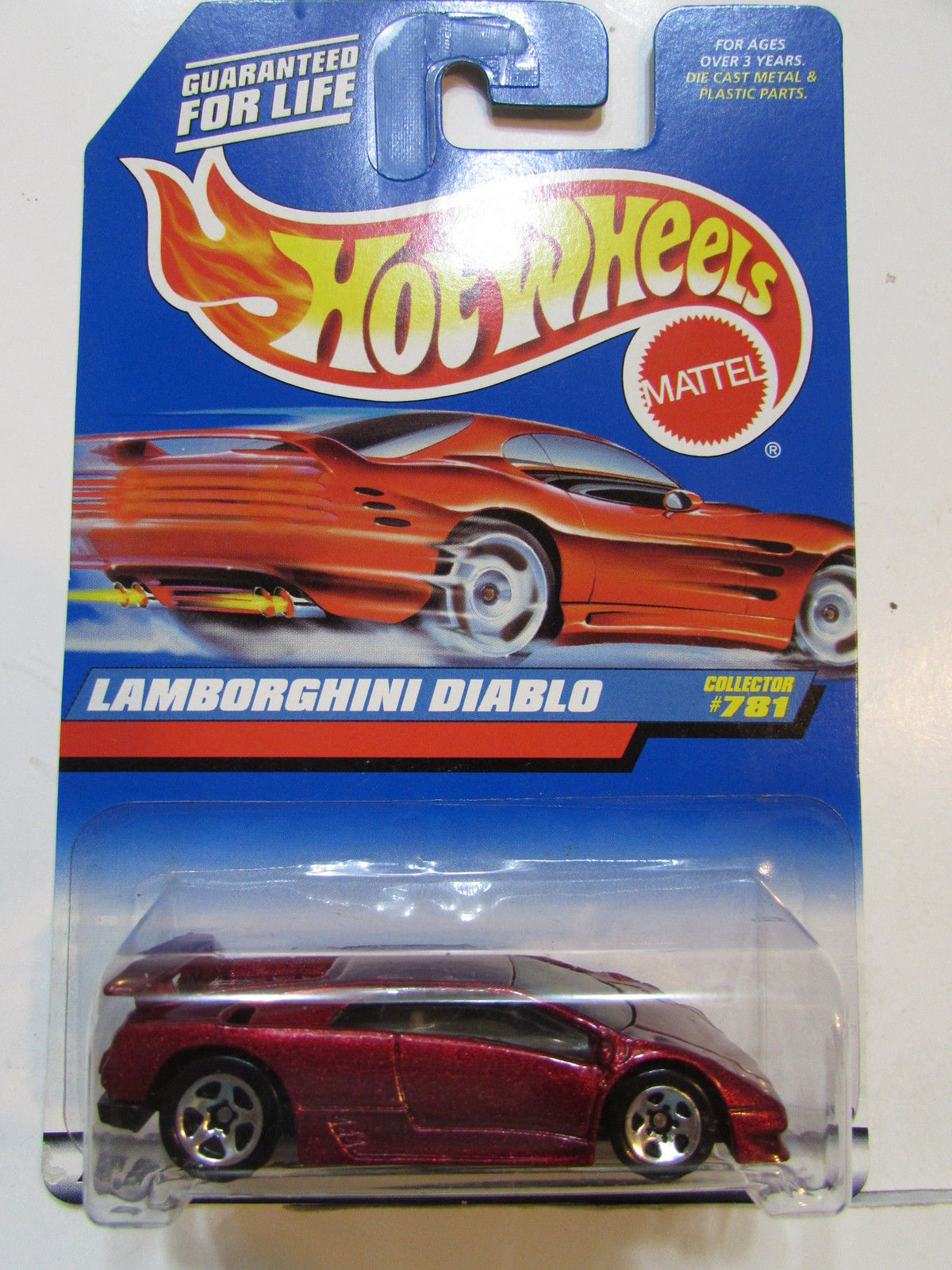 HOT WHEELS 1998 LAMBORGHINI DIABLO #781