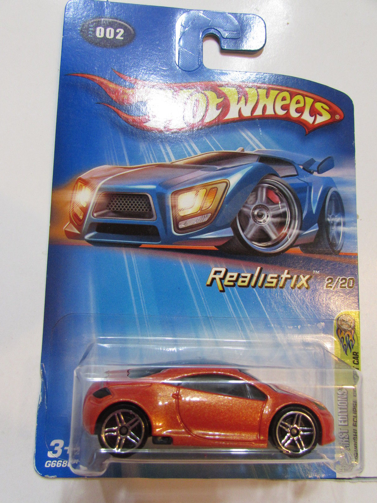 HOT WHEELS 2005 REALISTIX MITSUBISHI ECLIPSE CONCEPT CAR #002 W/ PR5 WHEELS