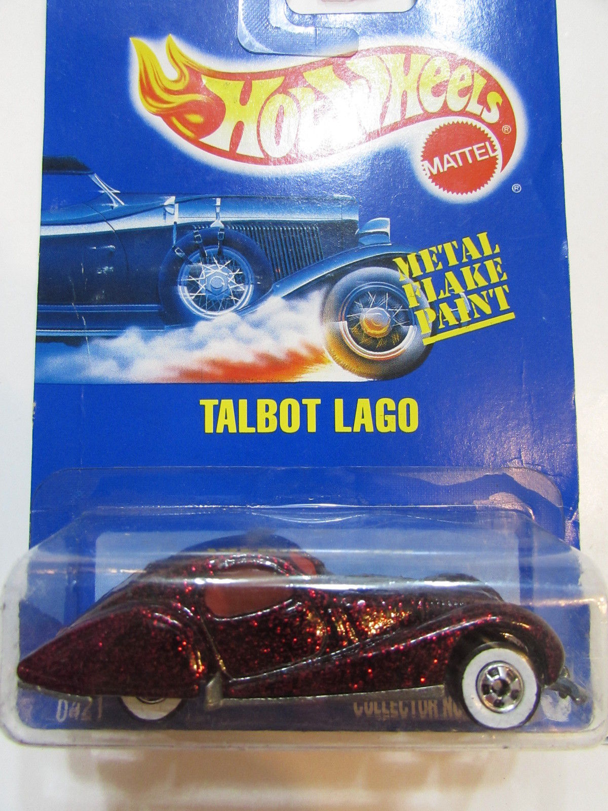 HOT WHEELS 1990 - 1991 TALBOT LAGO BLUE CARD METAL FLAKE PAINT #163