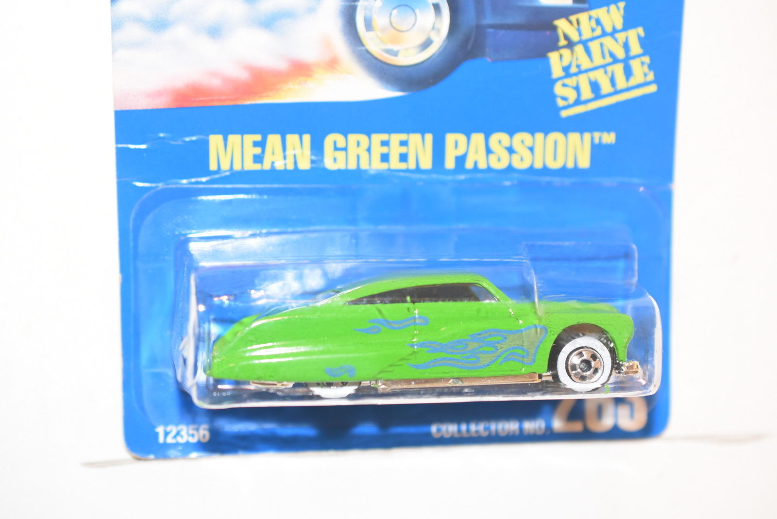 HOT WHEELS 1991 BLUE CARD MEAN GREEN PASSION #263