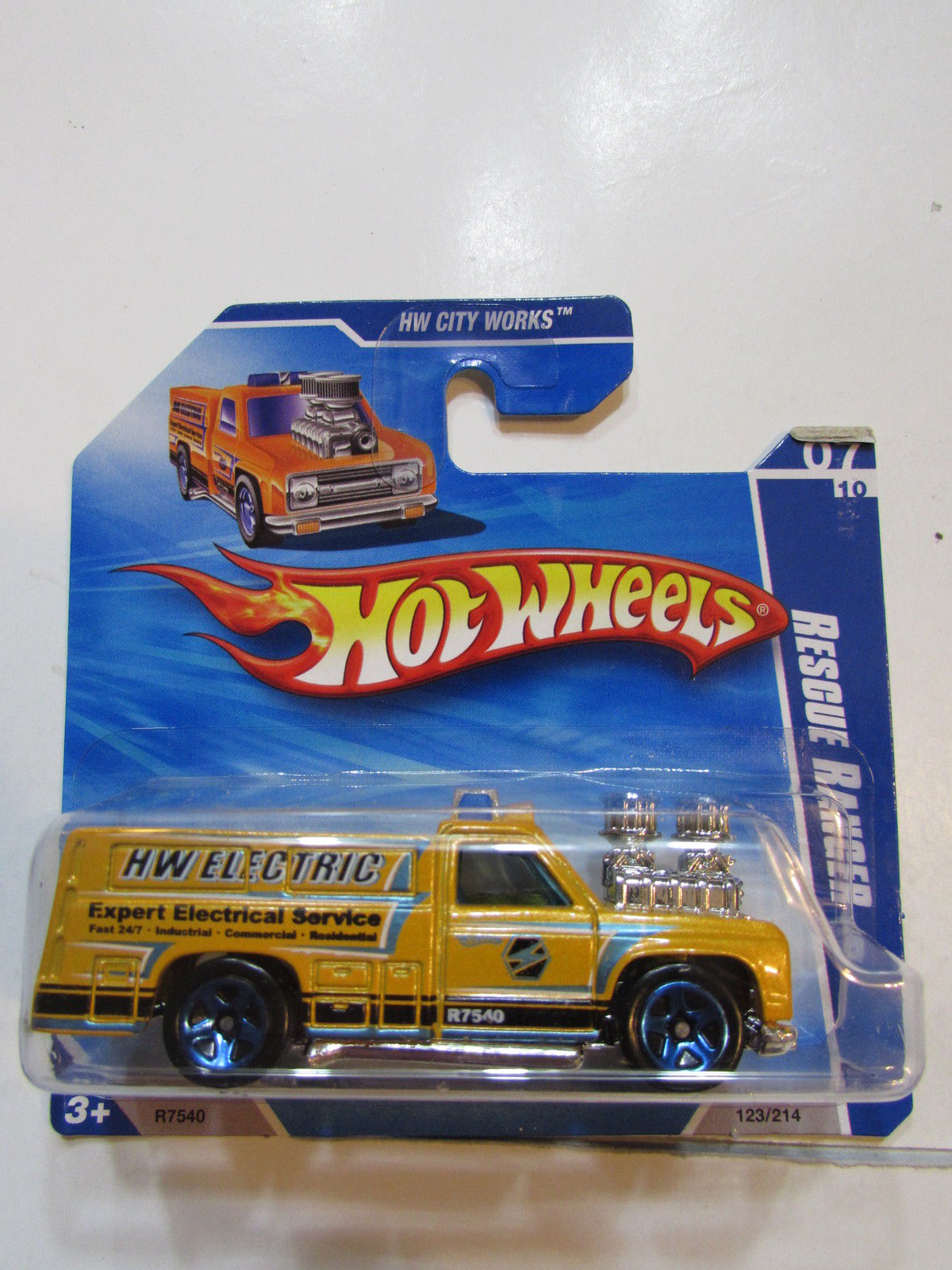 HOT WHEELS 2010 HW CITY WORKS RESCUE RANGER SHORT CARD
