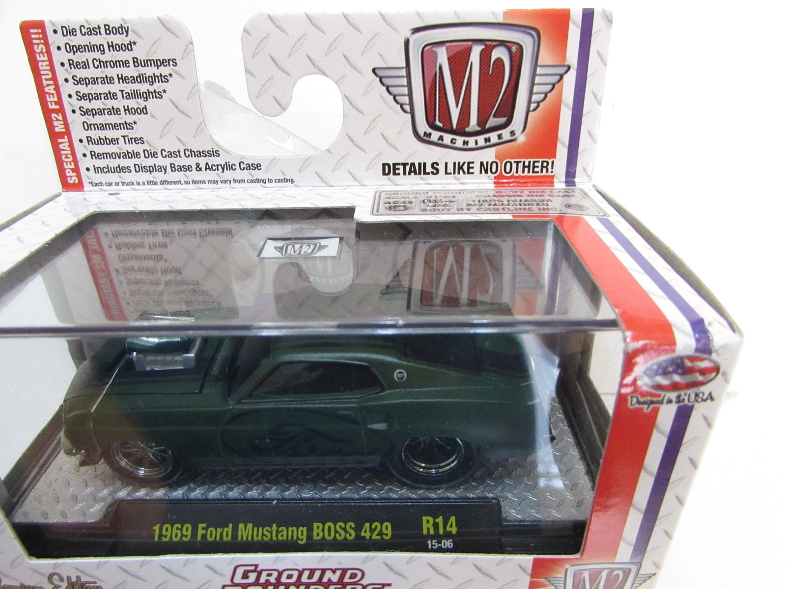 M2 MACHINES GROUND POUNDERS 1969 FORD MUSTANG BOSS 429