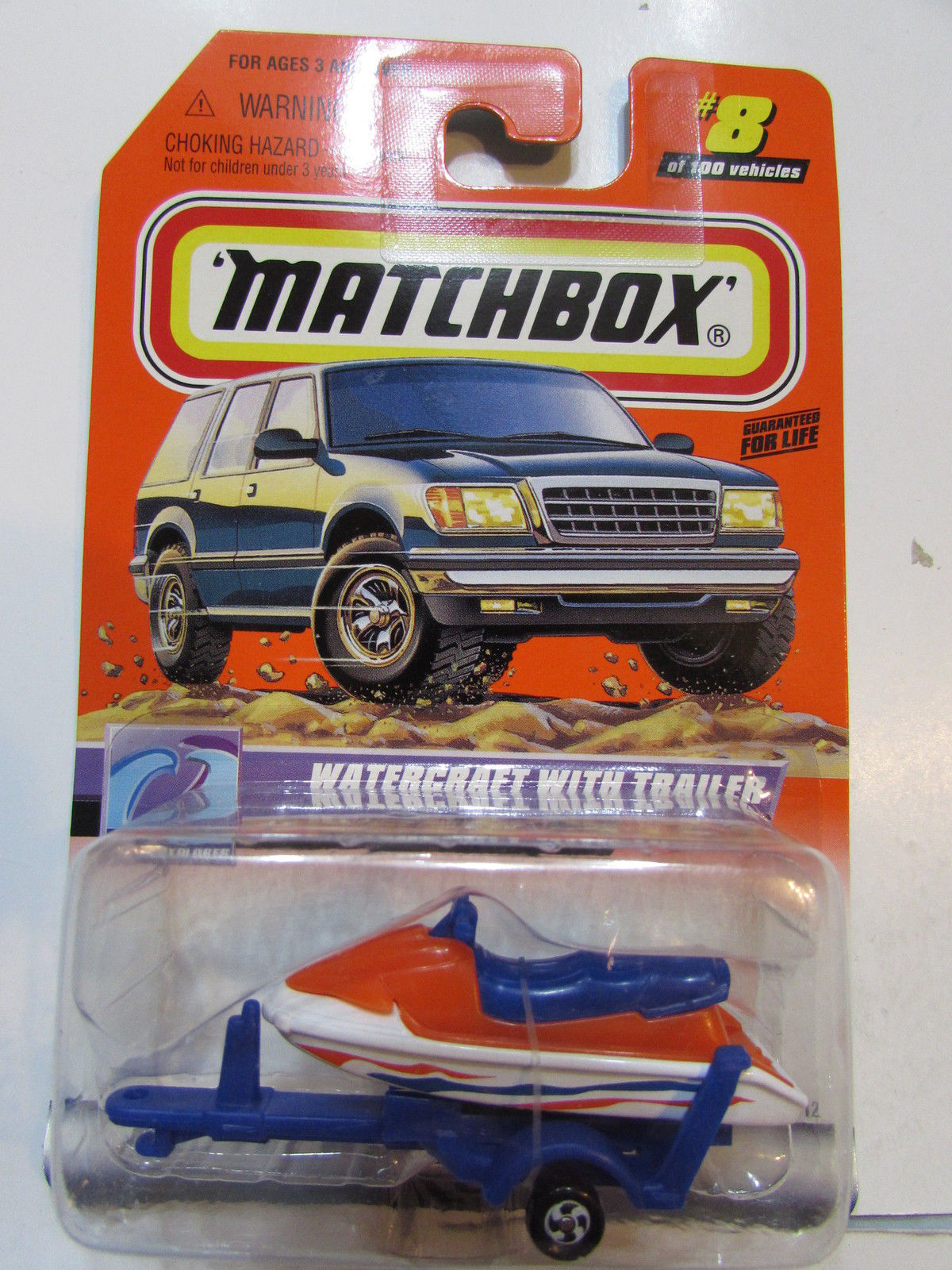 MATCHBOX 1999 WATERCRAFT WITH TRAILER - OCEAN EXPLORER