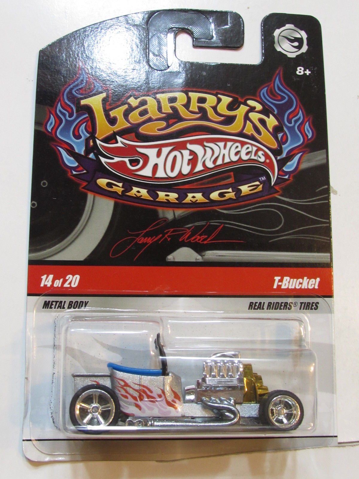 HOT WHEELS 2008 LARRY'S GARAGE #14/20 T-BUCKET CHASE
