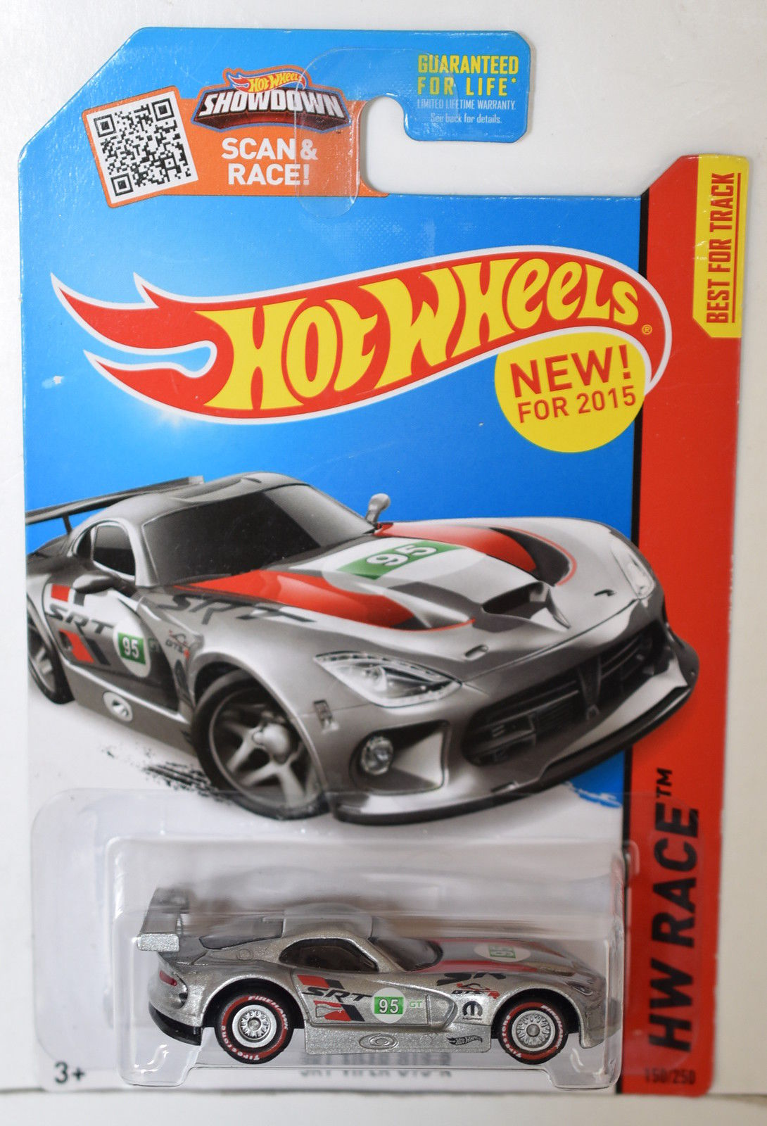HOT WHEELS 2015 HW RACE - WORLD RACE - SRT VIPER GTS - R CUSTOM MADE