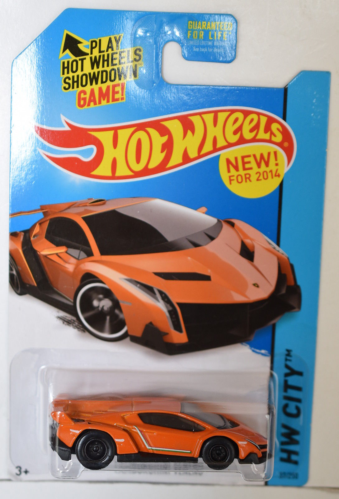 HOT WHEELS 2014 HW CITY - SPEED TEAM - LAMBORGHINI VENENO ORANGE CUSTOM MADE