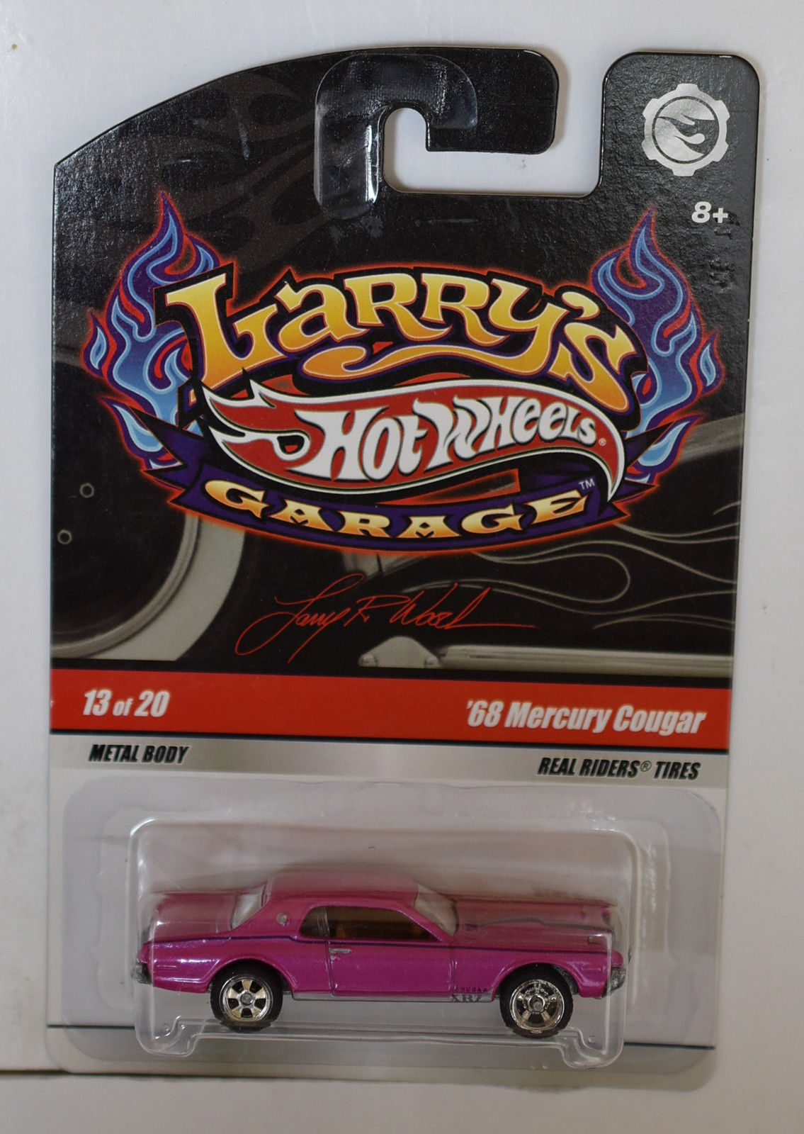 HOT WHEELS LARRY'S GARAGE #13/20 '68 MERCURY COUGAR - ERROR WHEELS