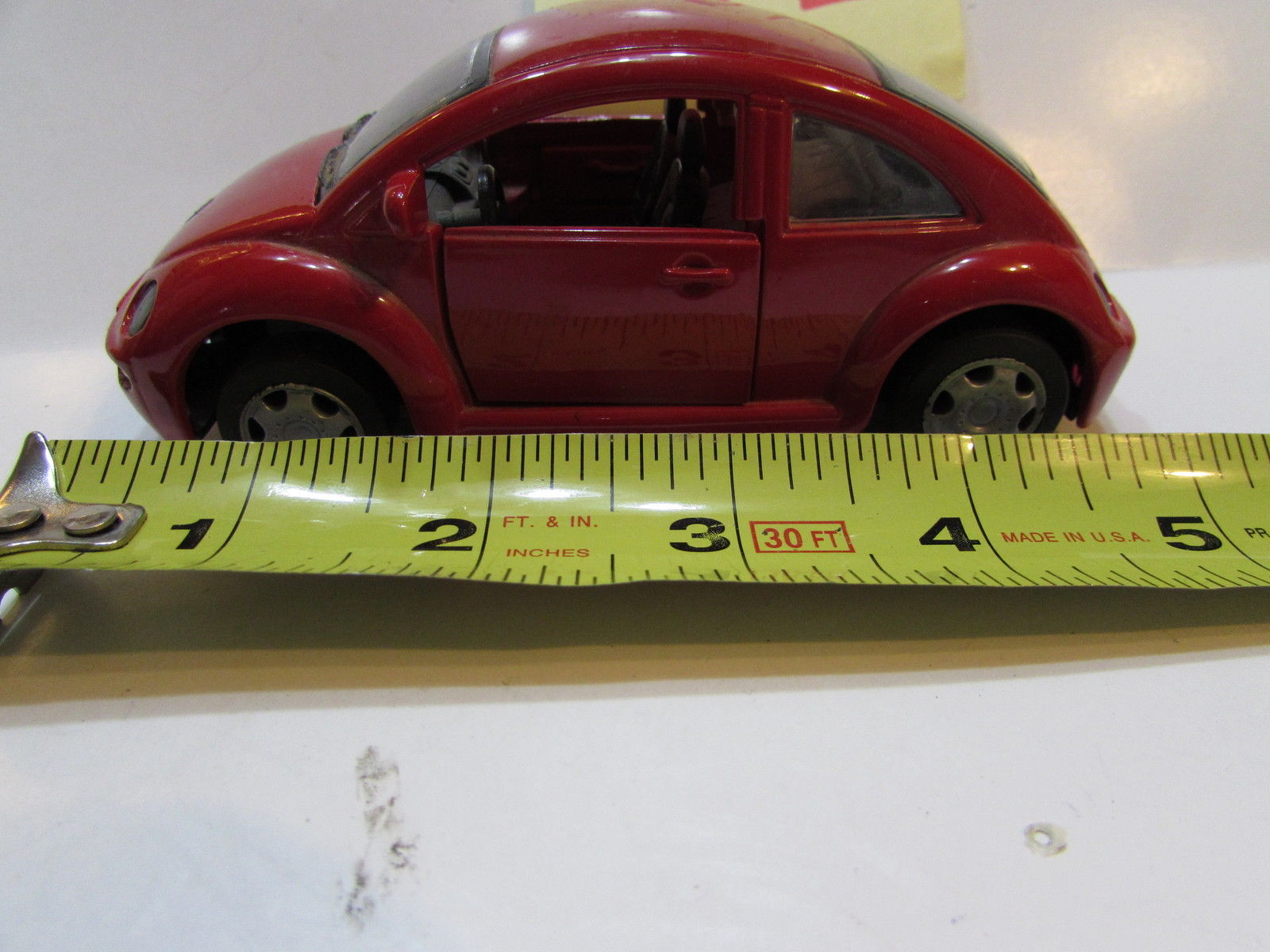 NEW RAY 1998 SPEEDY POWER NEW VOLKSWAGEN BEETLE RED LOOSE SCALE 1/32