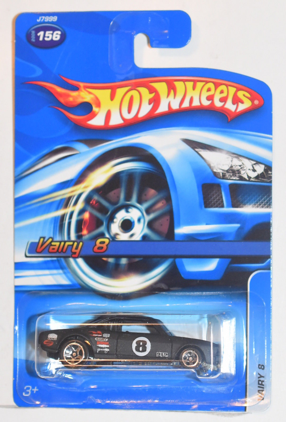 HOT WHEELS 2006 VAIRY 8 #156 BLACK