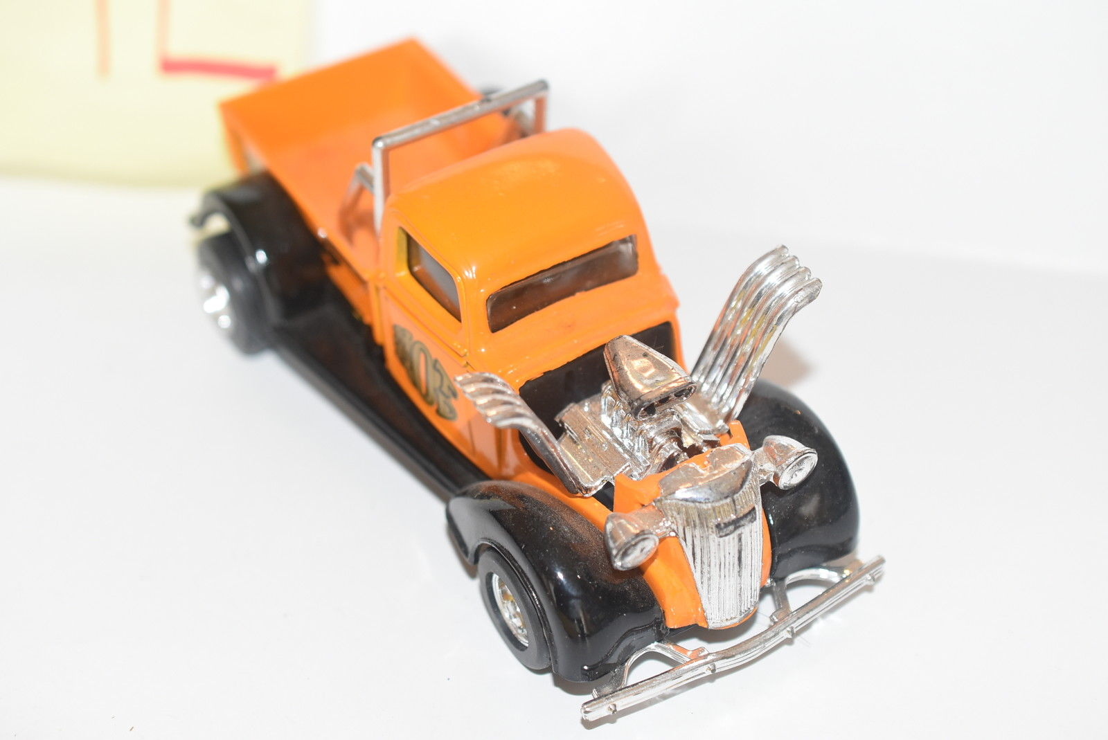 MAJORETTE HOT RODS PICK UP TRUCK ORANGE SCALE 1/32 - LOOSE