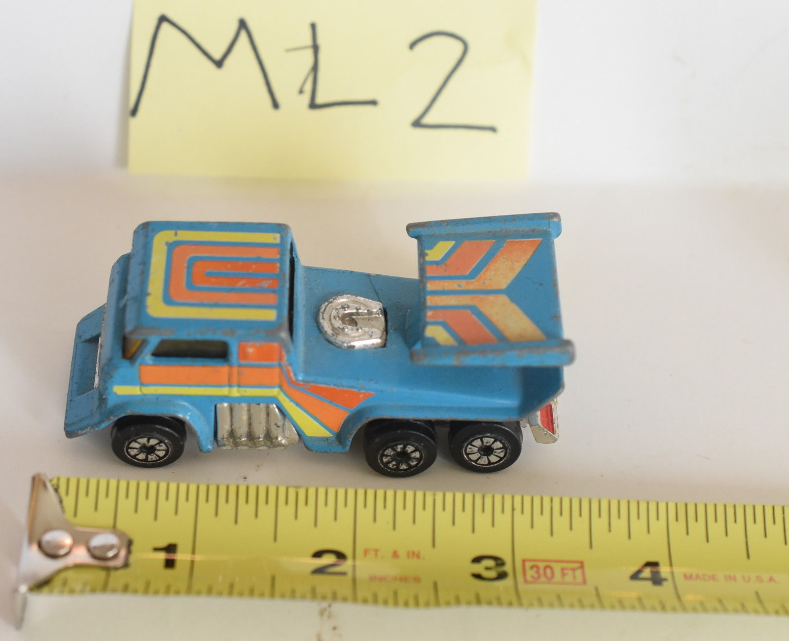 VINTAGE 1980 KENNER PRODUCTION DIE - CAST TRUCK MADE IN HONG KONG #1027 LOOSE E+