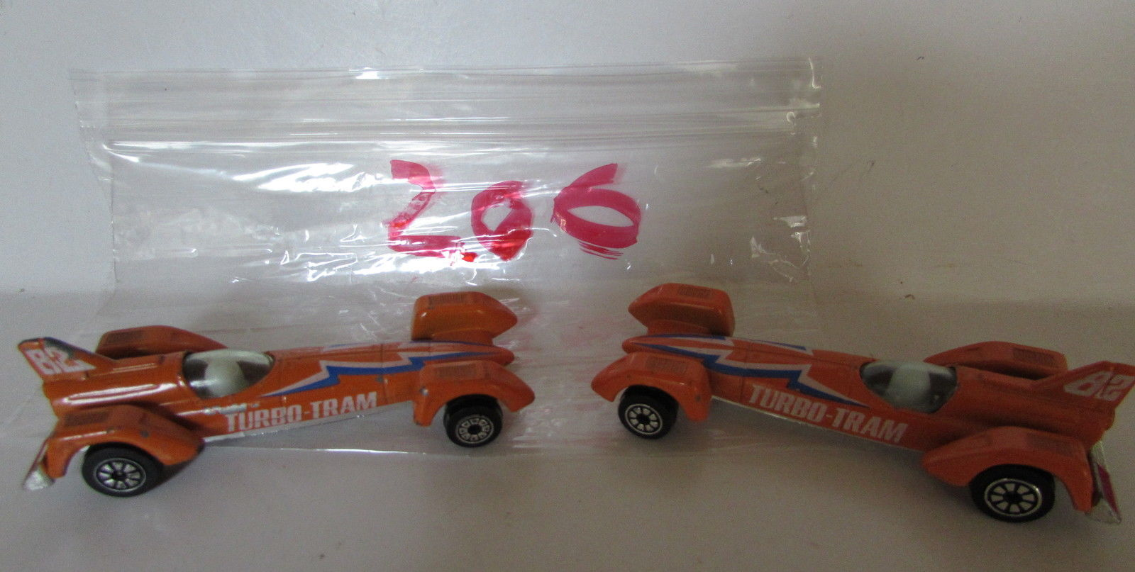 VINTAGE CLASSICS KENNER TURBO TRAM RACER RACE ON HONG KONG BASE LOT OF 2 - LOOSE