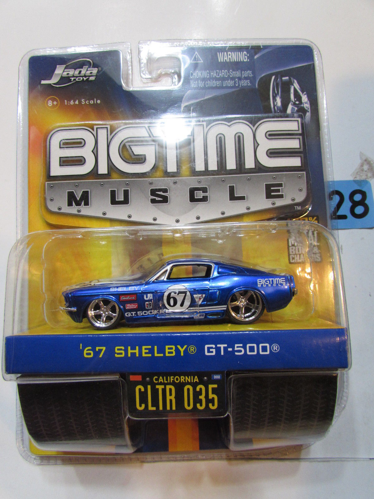 JADATOYS BIGTIME MUSCLE '67 SHELBY GT-500 CLTR 035 SCALE 1:64