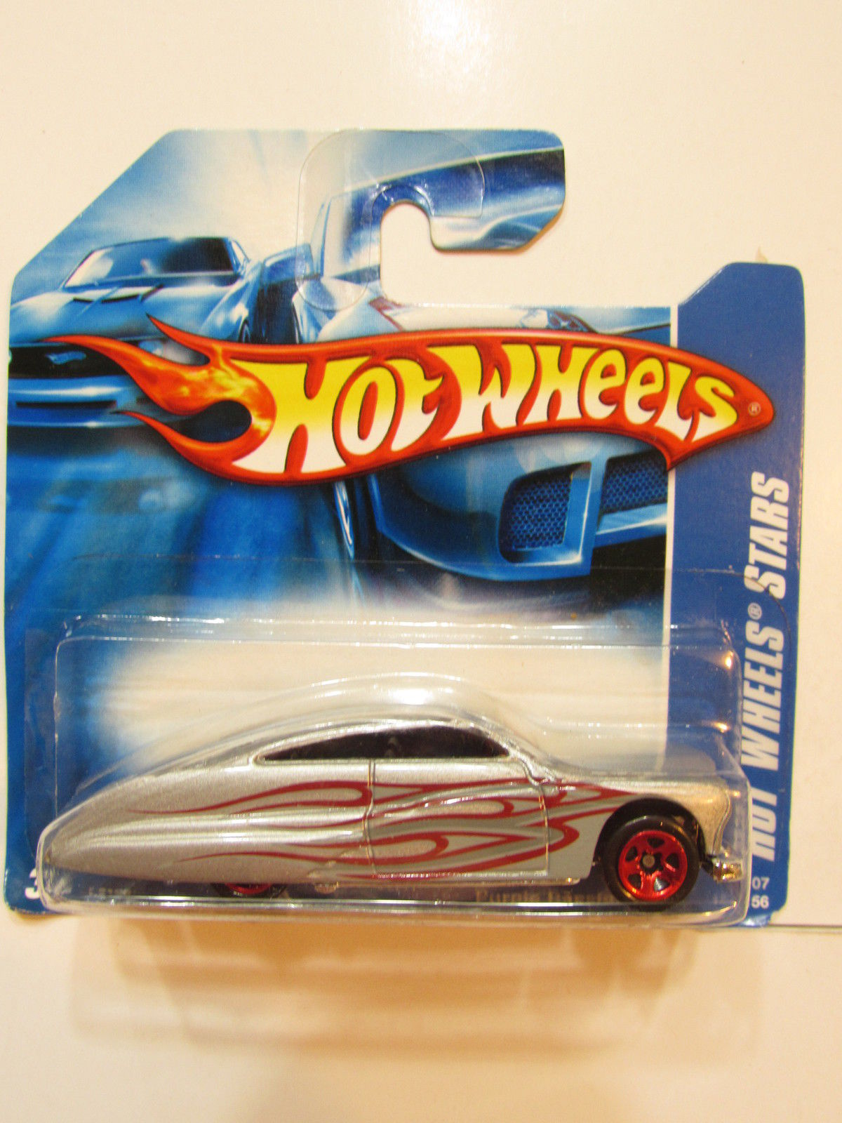HOT WHEELS 2007 ALL STARS PURPLE PASSION SILVER SHORT CARD