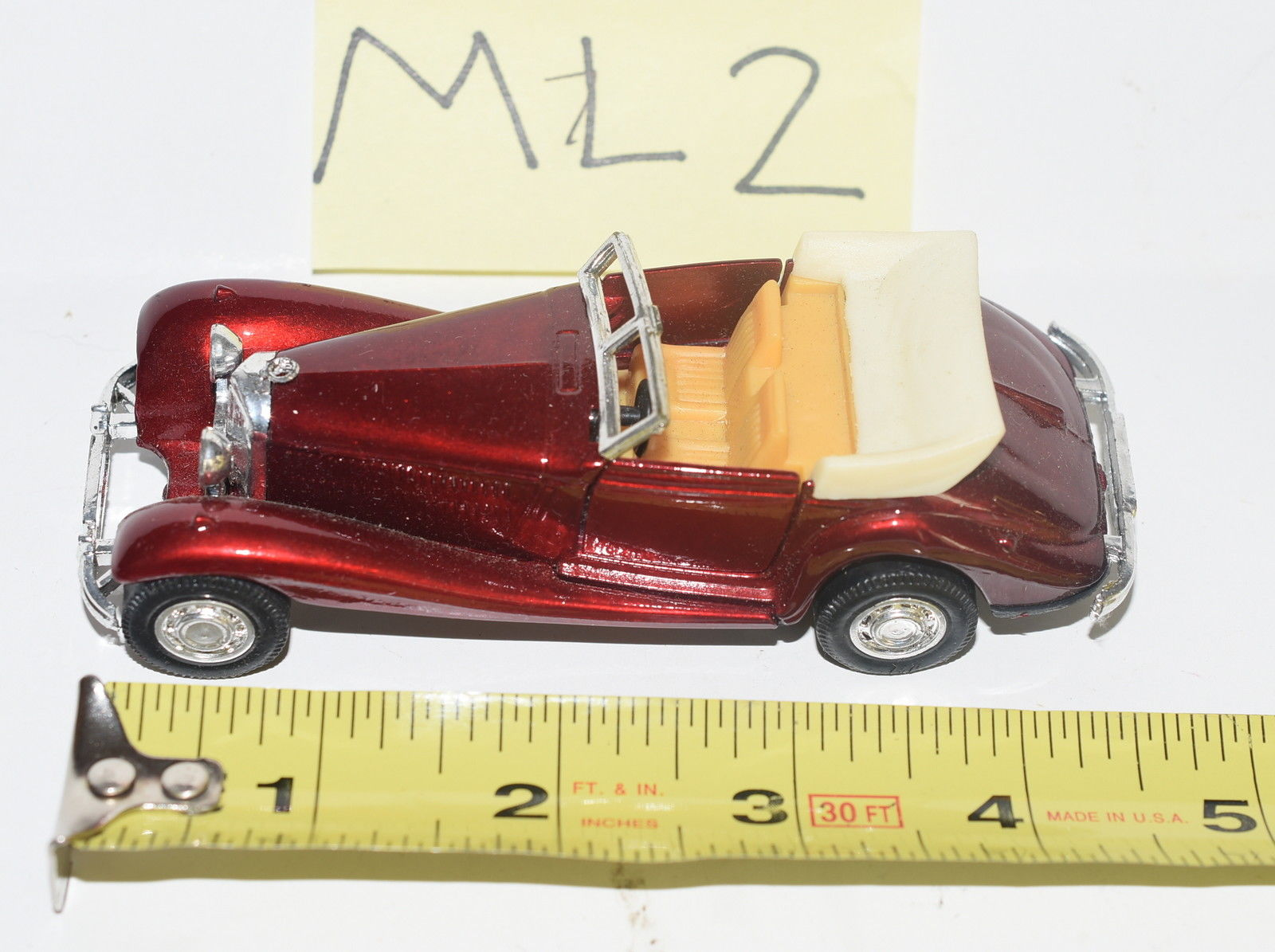 YAT MING MERCEDES BENZ 540 K #8502 OPEN ROOF - MADE IN THAILAND LOOSE