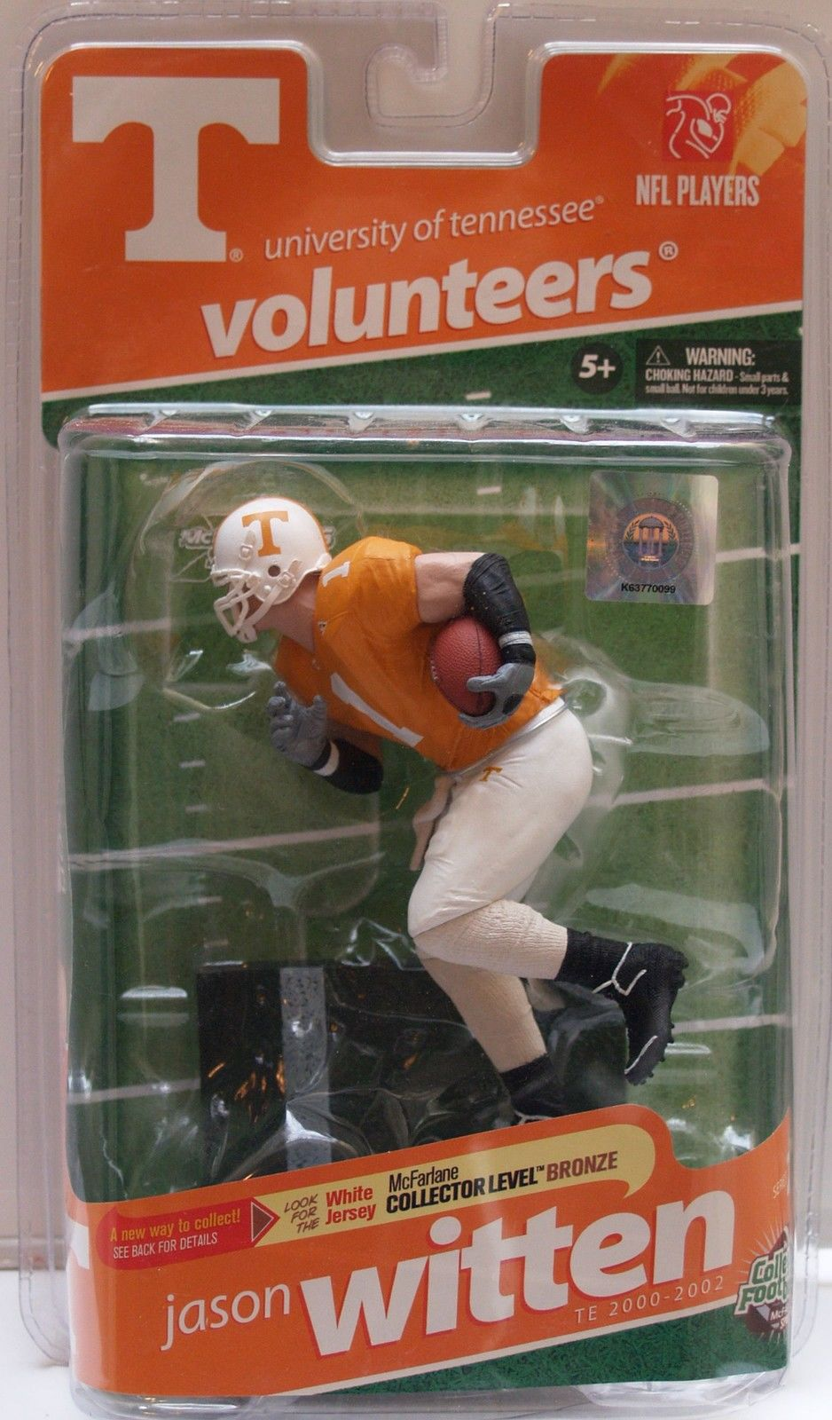 McFARLANE SPORTS COLLEGE ACTION FIGURE - JASON WITTEN #1 UT VOLUNTEERS