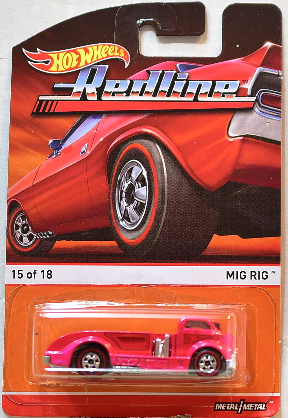 HOT WHEELS 2016 REDLINE MIG RIG #/15/18