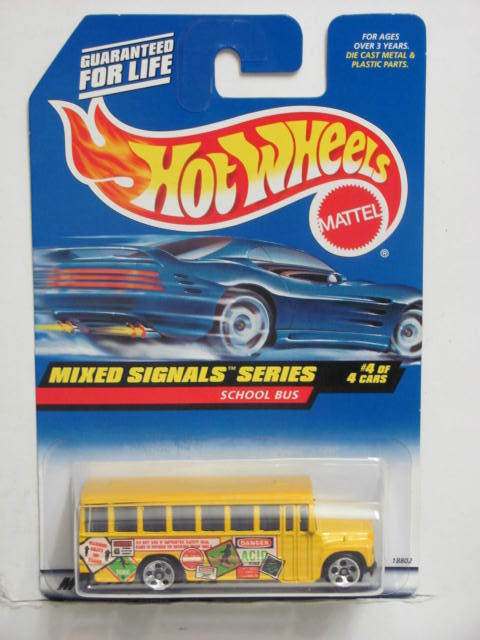 HOT WHEELS 1998 MIXED SIGNALS SERIES SCHOOL BUS