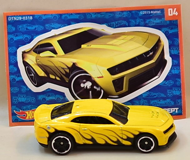 HOT WHEELS 2016 MYSTERY '12 CAMARO ZL1 CONCEPT #04