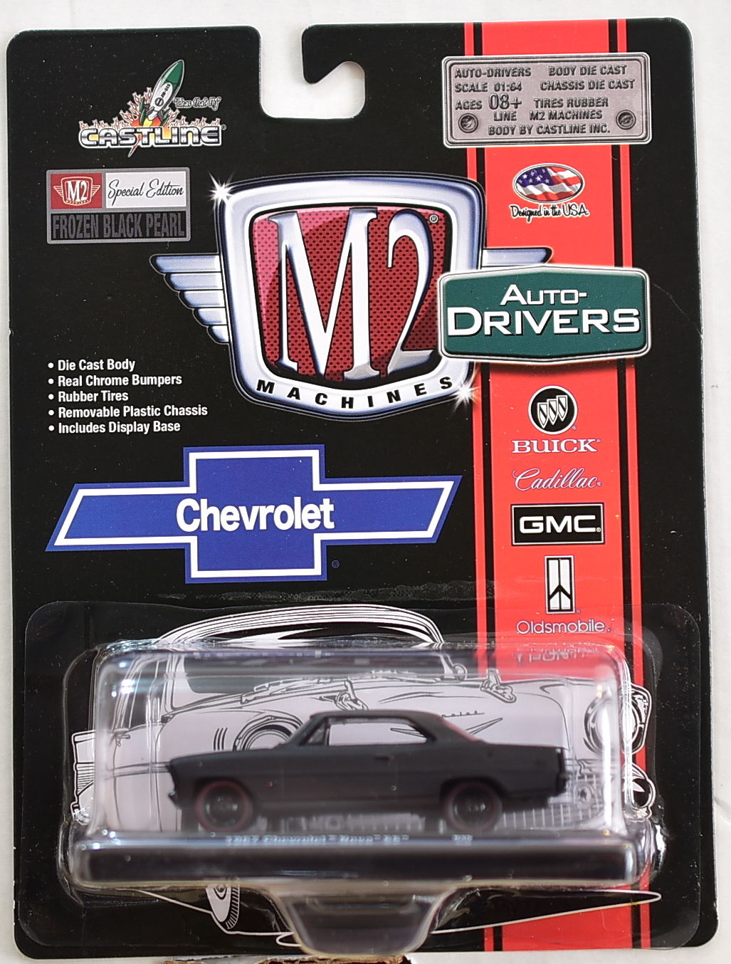 M2 MACHINES AUTO-DRIVERS 1967 CHEVROLET NOVA SS BLACK E+