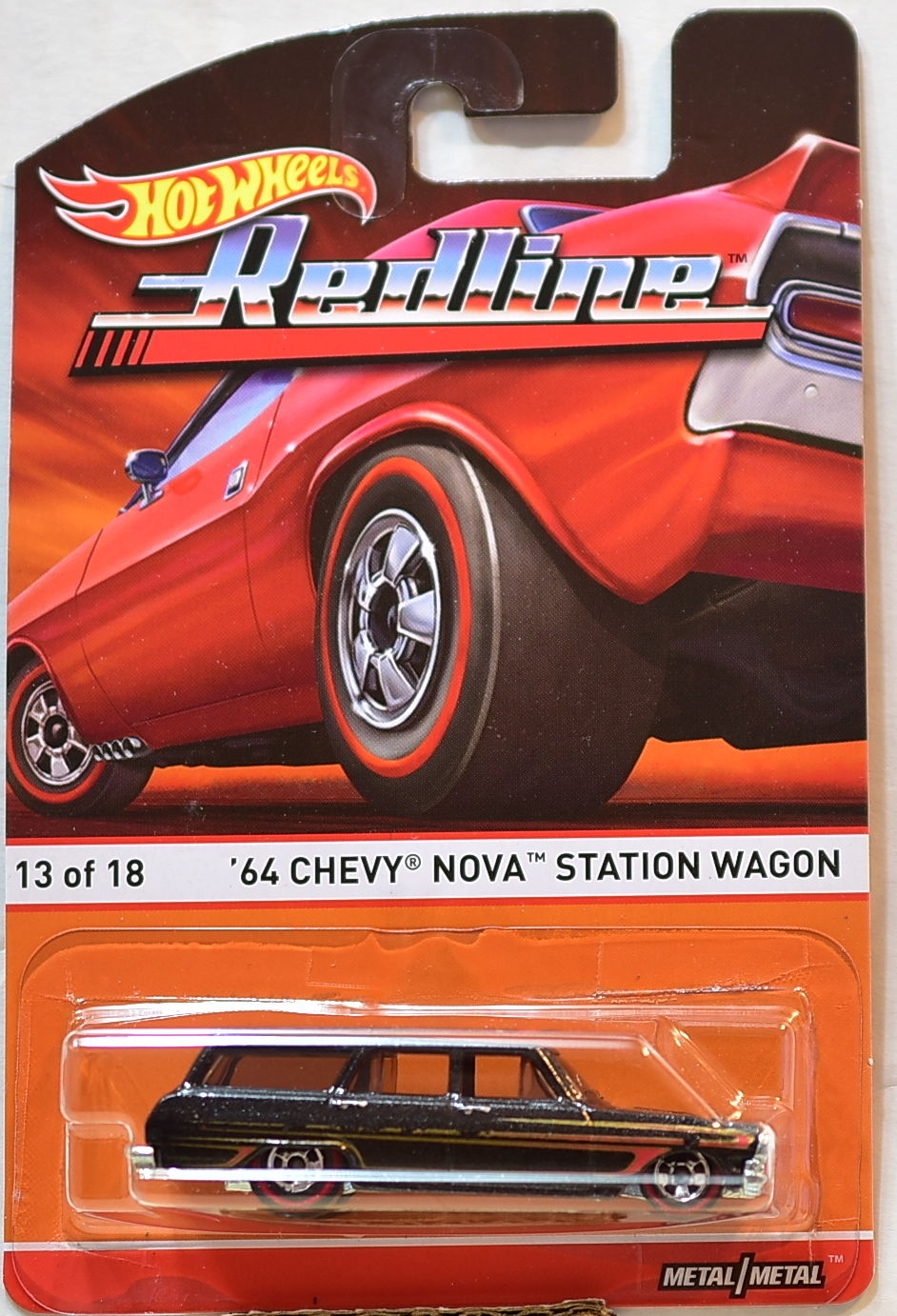 HOT WHEELS 2015 REDLINE '64 CHEVY NOVA STATION WAGON #13/18
