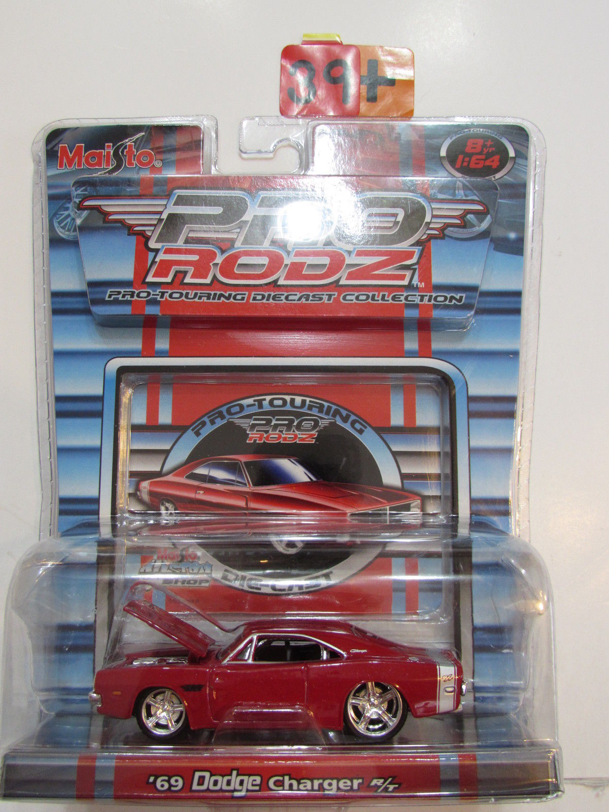 MAISTO PRO RODZ - '69 DODGE CHARGER R/T RED SCALE 1:64