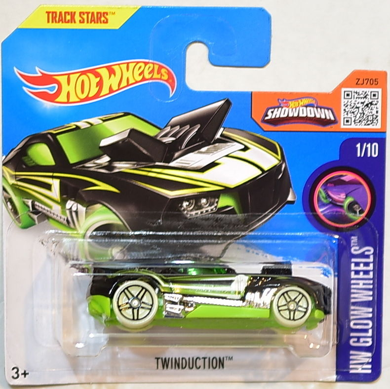 HOT WHEELS 2016 HW GLOW WHEELS TWINDUCTION SHORT CARD