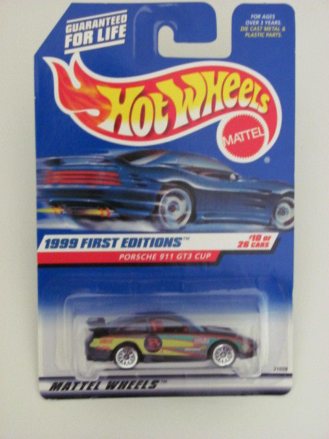 HOT WHEELS 1999 FIRST EDITIONS PORSCHE 911 GT3 CUP