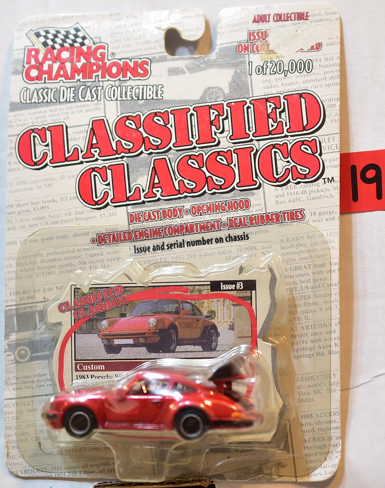RACING CHAMPIONS CLASSIFIED CLASSIC ISSUE #3 1983 PORSCHE 911 TURBO