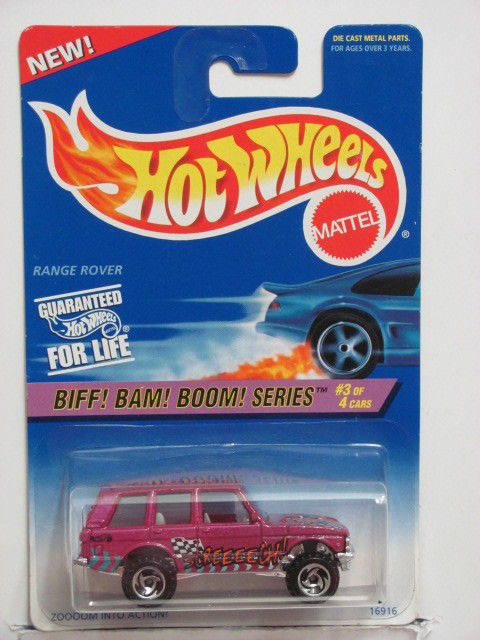 HOT WHEELS 1996 BIFF! BAM! BOOM! SERIES RANGE ROVER #544