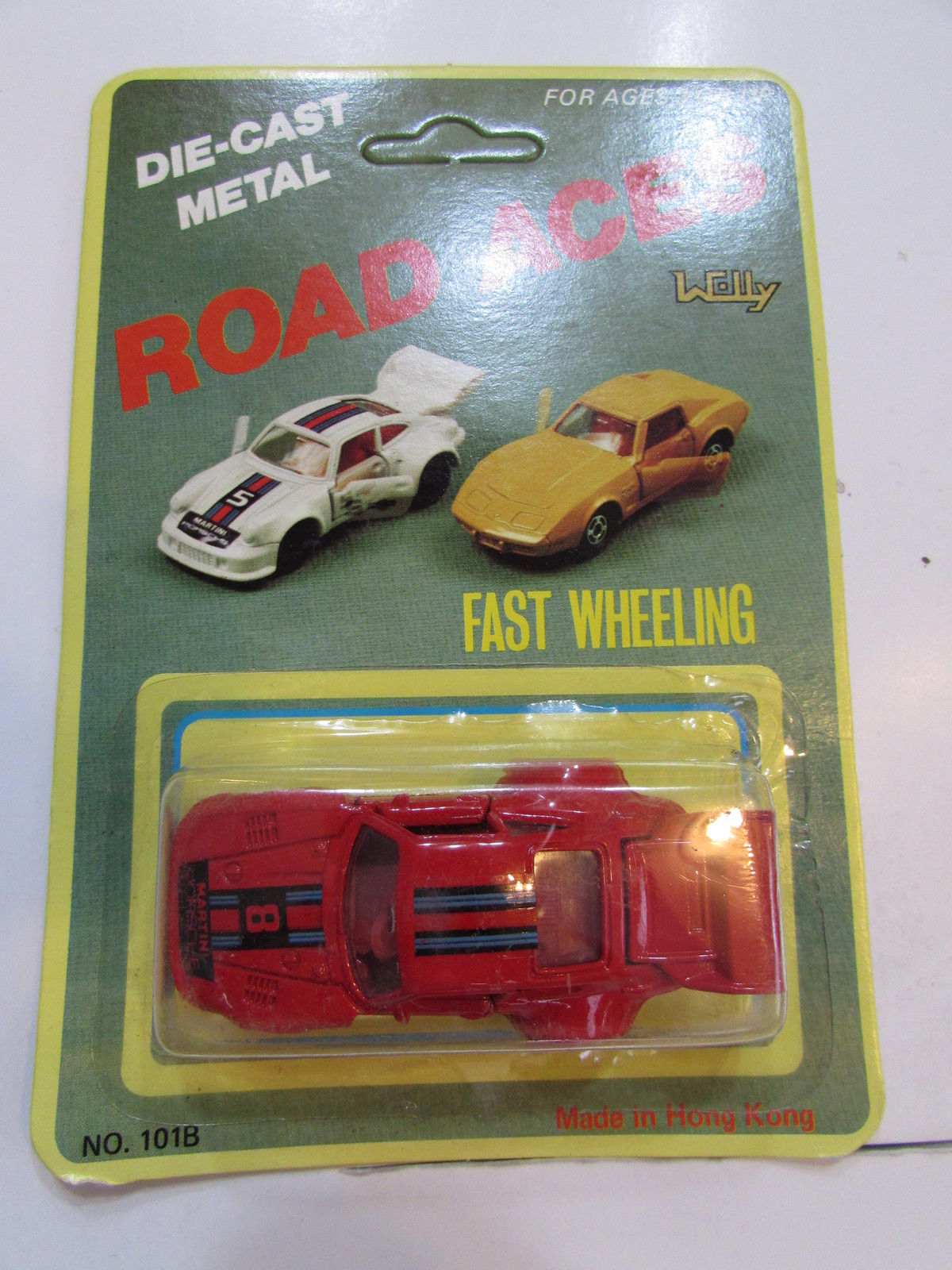 ROAD ACES FAST WHEELING - PORSCHE RED MADE IN HONG KONG