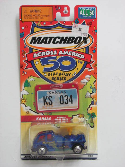MATCHBOX ACROSS AMERICA 50TH BIRTHDAY SERIES KANSAS