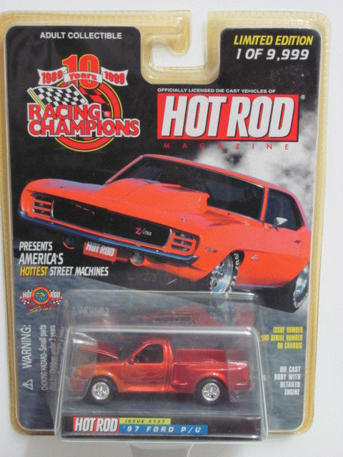 RACING CHAMPIONS HOT ROD MAGAZINE '97 FORD P/U ISSUE #137