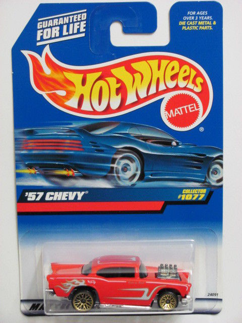 HOT WHEELS 1999 '57 CHEVY COLLECT. #1077 RED MIB