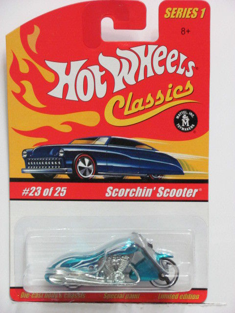 HOT WHEELS CLASSICS SERIES 1 #23/25 SCORCHIN' SCOOTER BLUE