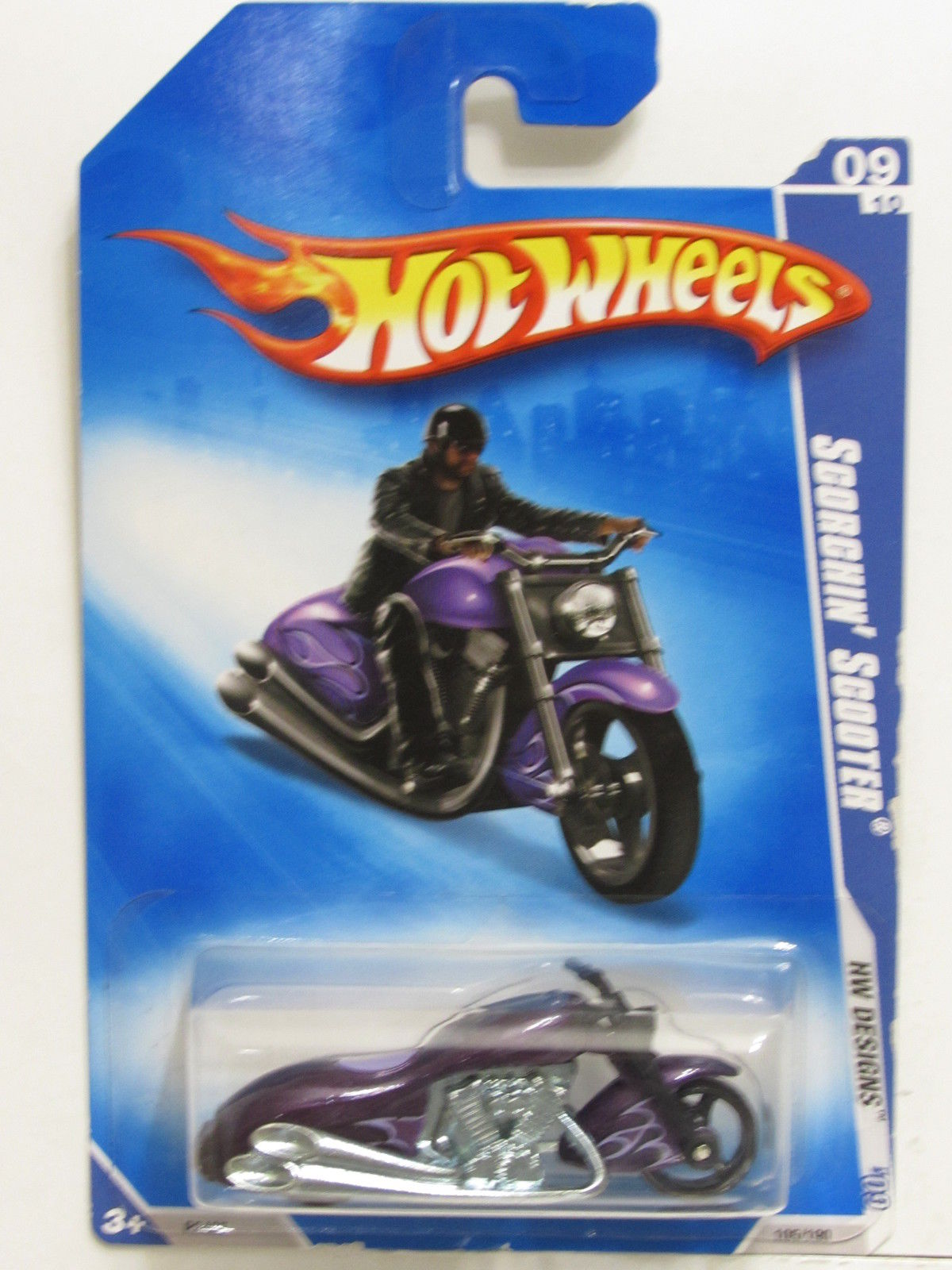 HOT WHEELS 2009 HW DESIGNS SCORCHIN' SCOOTER #09/10