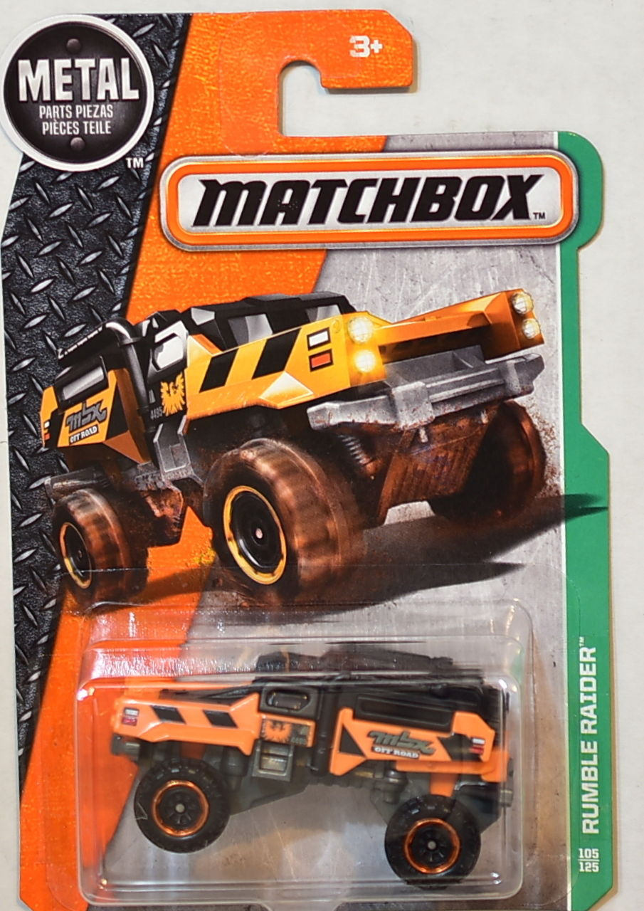 MATCHBOX 2016 METAL PARTS PIEZAS RUMBLE RAIDER