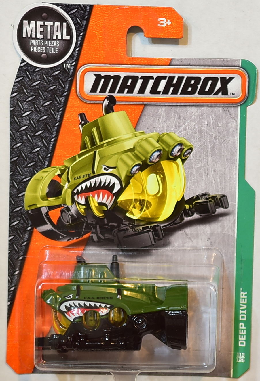 MATCHBOX 2016 METAL PARTS PIEZAS DEEP DIVER