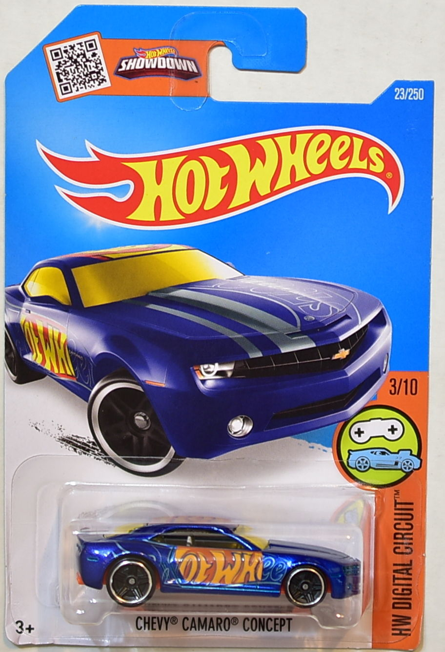 HOT WHEELS 2016 HW DIGITAL CIRCUIT CHEVY CAMARO CONCEPT #3/10 BLUE