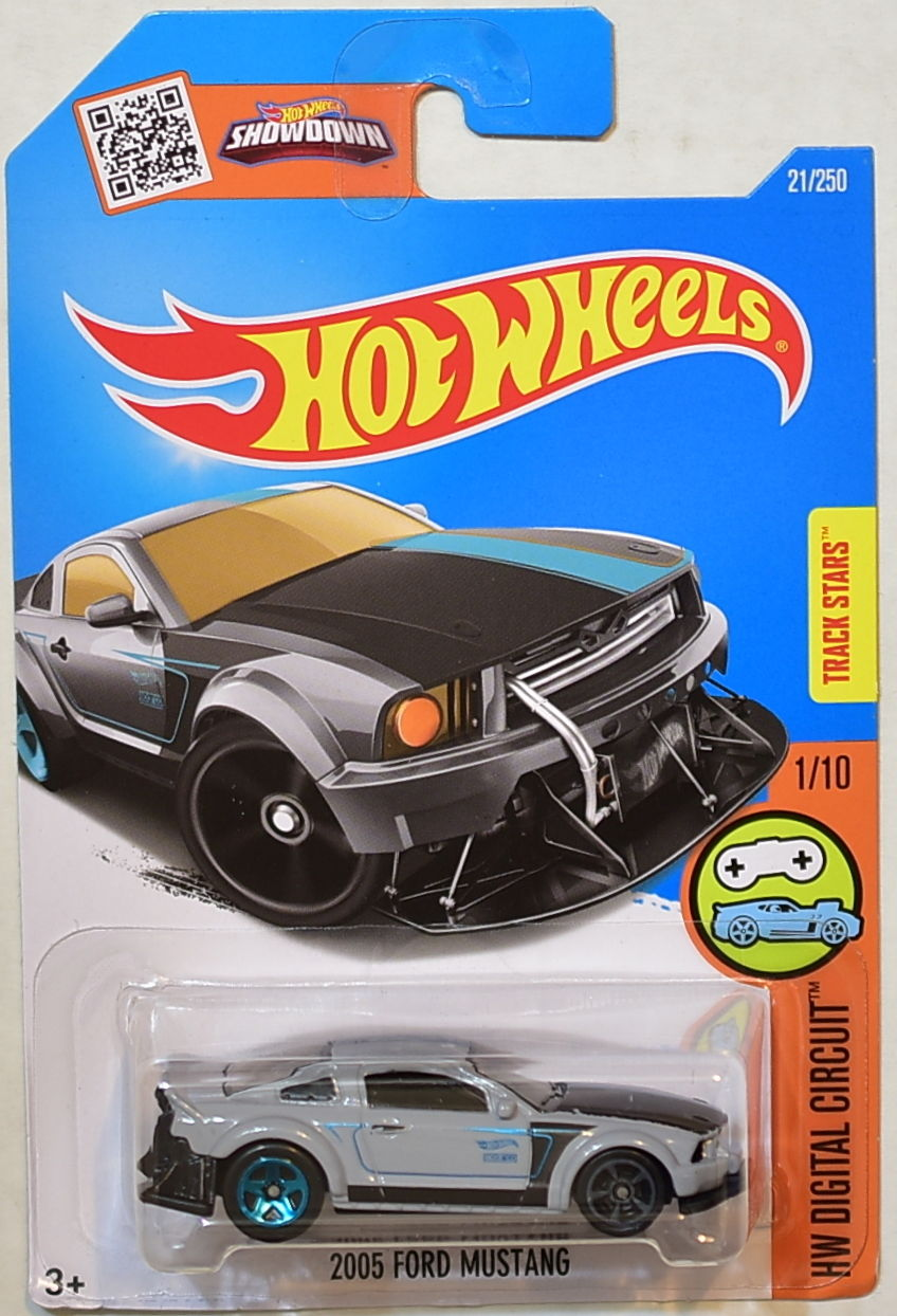 HOT WHEELS 2016 HW DIGITAL CIRCUIT 2005 FORD MUSTANG GRAY