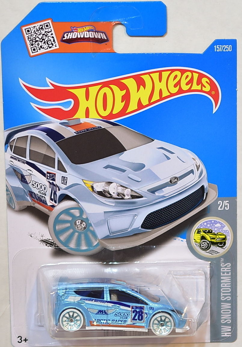 HOT WHEELS 2016 HW SNOW STORMERS '12 FORD FIESTA #2/5 LIGHT BLUE