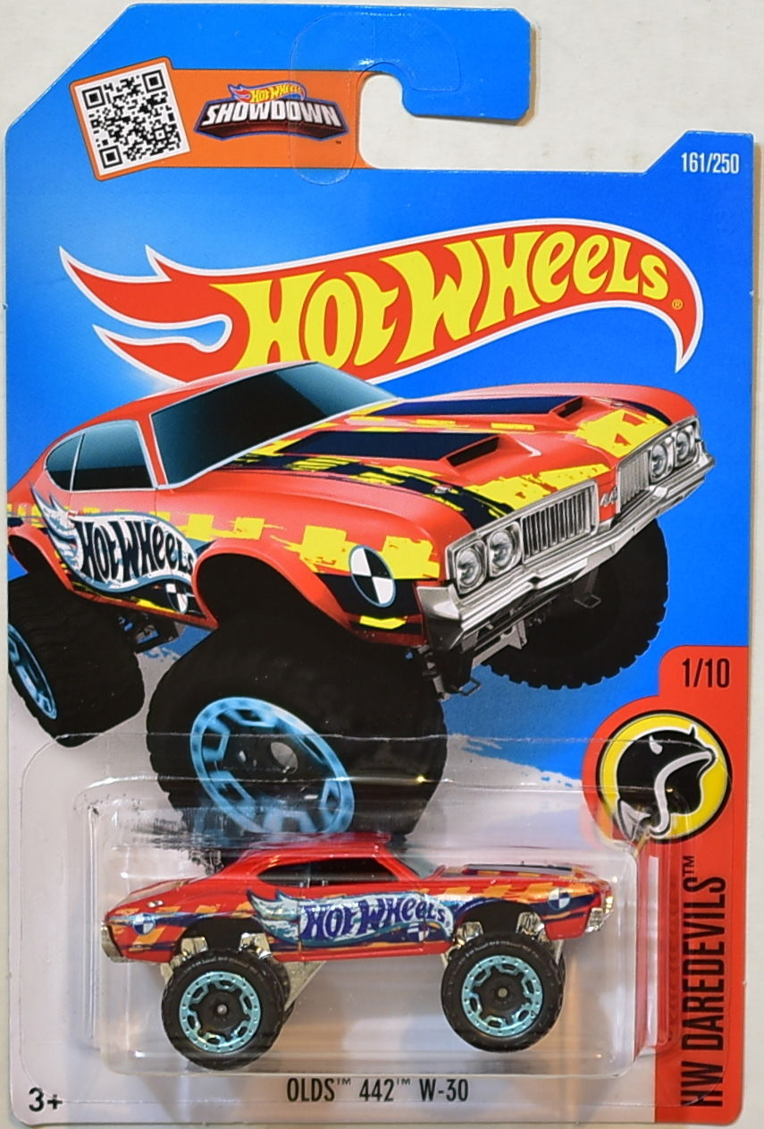 HOT WHEELS 2016 HW DAREDEVILS - OLDS 442 W - 30 #1/10 RED