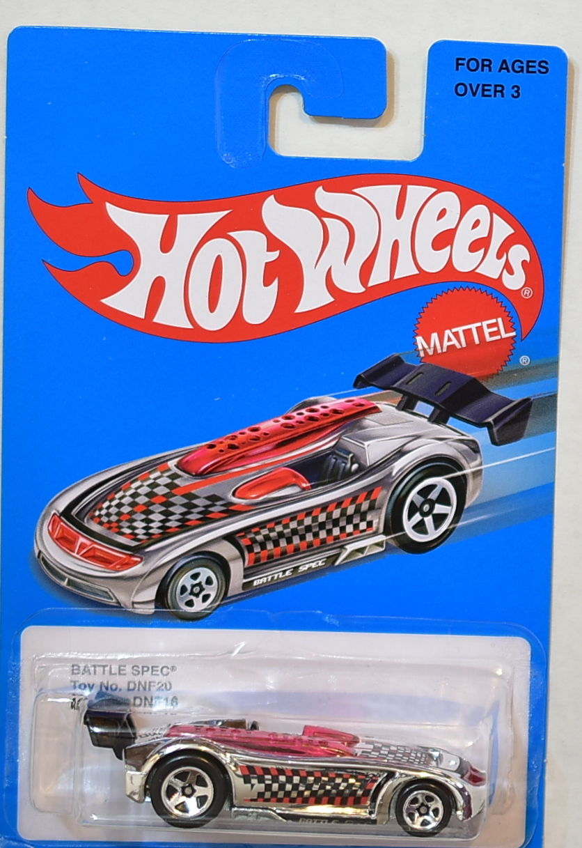HOT WHEELS 2016 BLUE CARD SERIES BATTLE SPEC